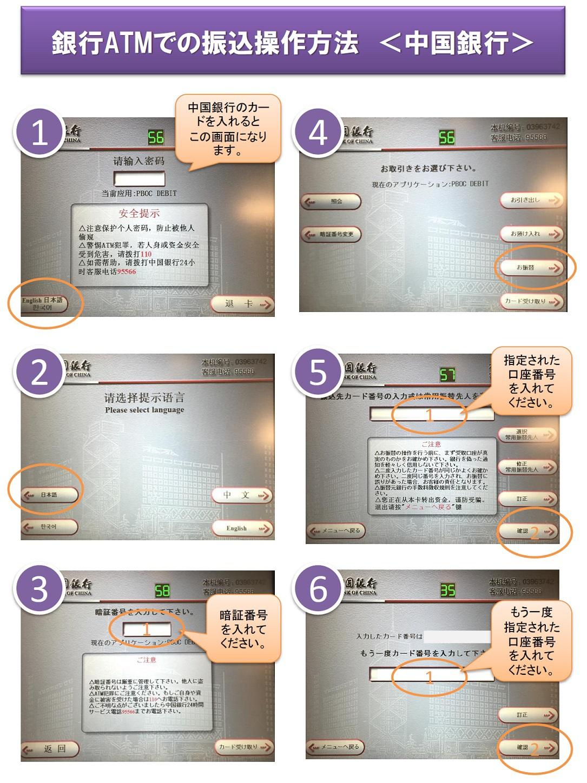 中国 銀行 atm